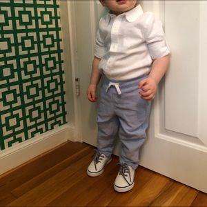 Janie & Jack toddler boy linen pants